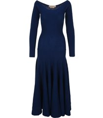 marni boat-neck long knitted dress