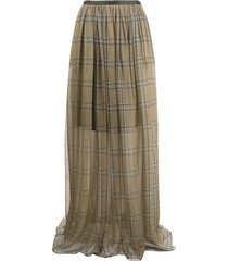 brunello cucinelli plaid maxi skirt - neutrals