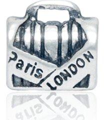 berloque lua pratas separador mala/ bolsa paris london (londres) prata