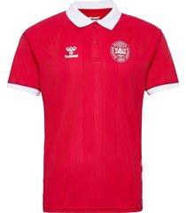 dbu fan 2020 polo t-shirts football shirts röd hummel