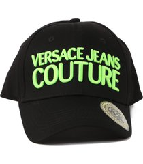 versace jeans couture baseball cap with embossed logo