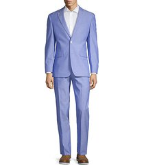 regular fit stretch chambray suit