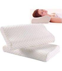 combo 2 almohadas memory foam indeformables con funda de puntos relajación