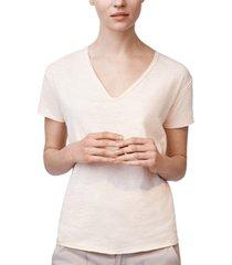 b new york raw-edge v-neck cotton t-shirt