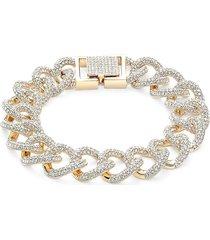 adriana orsini women's goldtone & crystal bracelet