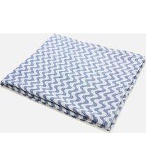 frescobol carioca men's jacquard linen towel - navy blue