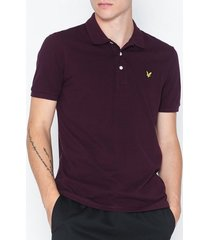 lyle & scott polo shirt piké burgundy