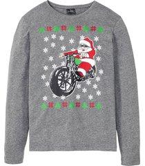 maglia natalizia a maniche lunghe slim fit (grigio) - rainbow