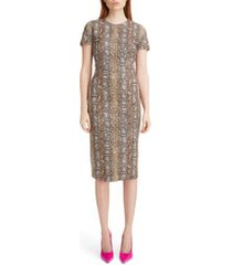 women's victoria beckham snake jacquard sheath dress