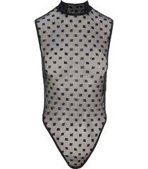 misbhv monogram mesh bodysuit