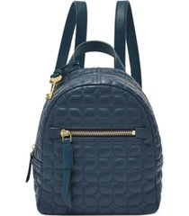 fossil megan mini leather quilted backpack