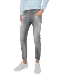 fifty four rages jd98 fa-52-mrl grey slim fit skinny jeans-