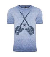 camiseta masculina lets roll - azul