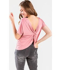emma twist back tee - blush