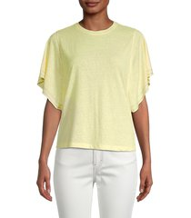 atwell women's joy heathered top - tender yellow - size s