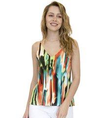 blusa hanna multicolor racaventura