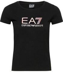 t-shirt t-shirts & tops short-sleeved svart ea7