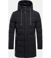 comodo cappotto invernale lunghezza mid comfy mid antivento con impunture