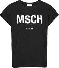 alva msch std tee t-shirts & tops short-sleeved svart moss copenhagen