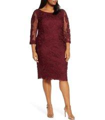 plus size women's js collections soutache cocktail dress, size 20w - pink