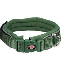 trixie collar premium perros neopreno verde talla m - l