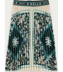 scotch & soda pleated scarf print maxi skirt