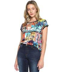 camiseta multicolor desigual