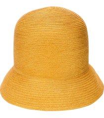 nina ricci high woven hat - yellow