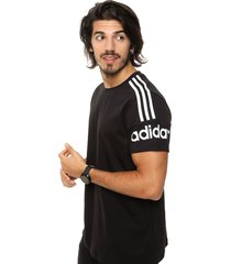 remera  negra adidas originals  m crew t shirt