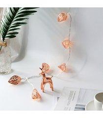 3m de hojas en forma de cadena de luz led operados decoracion adecuado