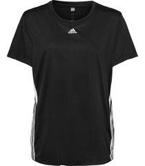 3-stripes t-shirt w t-shirts & tops short-sleeved svart adidas performance