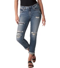silver jeans co. beau ripped slim-leg jeans