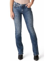 silver jeans co. elyse mid-rise slim bootcut jeans