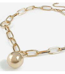 *chunky ball pendant necklace - gold