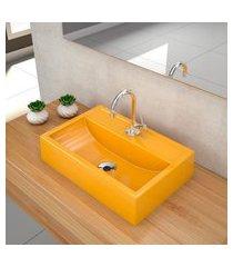 kit cuba para banheiro trevalla q45e torneira válvula 1pol amarelo