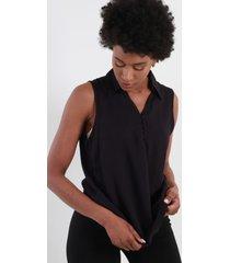blusa sin manga azul marino night concept