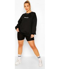 plus 'honey' sweatshirt, black