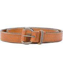 fabiana filippi bead-embellished belt - brown