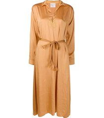 forte forte belted tunic dress - gold