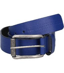 cinturón cuero azul claro panama jack