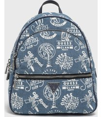mochila manhattan large backpack azul guess