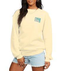 women's billabong tropic shore graphic sweatshirt, size small - yellow