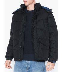 lee jeans puffer jacket black jackor svart