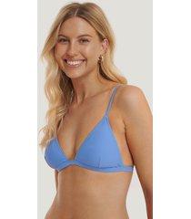 na-kd swimwear basic triangle bikini bra - blue
