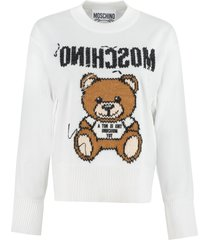 moschino embroidered cotton sweater