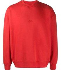 a-cold-wall* logo printed sweatshirt - red