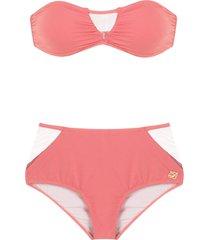 brigitte bandeau bikini set - pink