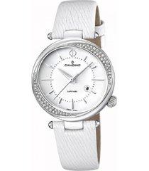 reloj blanco candino mujer elegance d-light