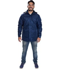 jaqueta casaco acolchoado impermeável seychellis capuz removível azul marinho