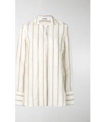 jil sander giselle striped shirt